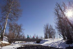 snow biking Wyoming